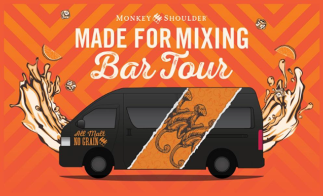 Mixing Party at the Monkey Shoulder Made for Mixing Bar Tour!