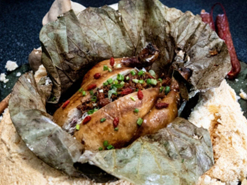Salt Baked Chicken Stuffed with U.S. Calrose Rice