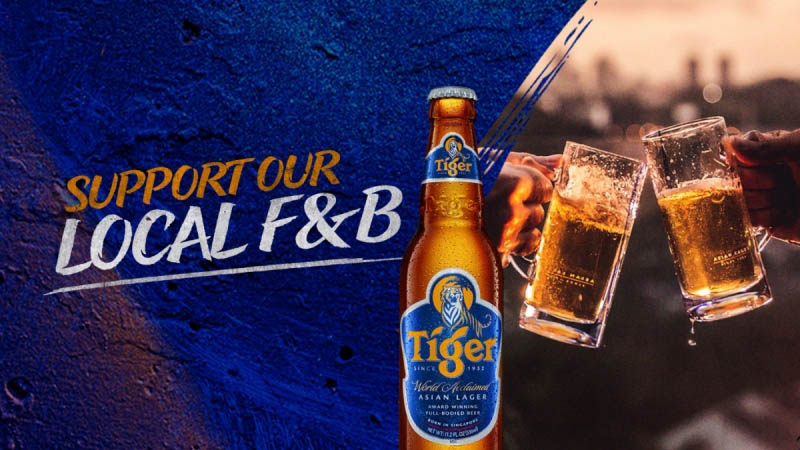 Tiger Beer Pledges SGD1 Million to Support Local F&B Establishments