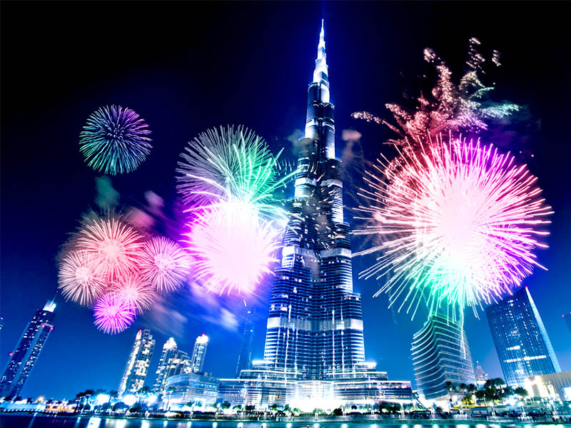 Dubai brightens up the world with dazzling New Year's Eve fireworks show