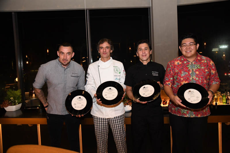 Dining in the SKAI With A 6-Hands Dinner with Chef Martin Rebaudino, H.E. Federico Alejandro Barttfeld and Chef Paul Hallet